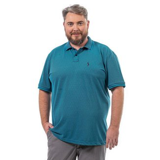 Camisa Polo John Pull Plus Size Masculina Botão Confortável