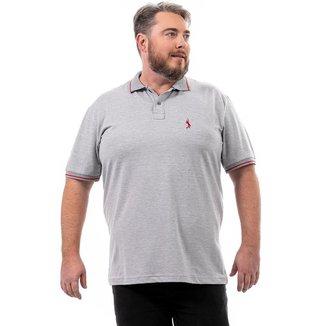 Camisa Polo John Pull Plus Size Masculina Lisa Casual