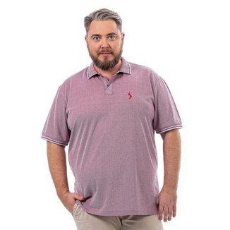 Camisa Polo John Pull Plus Size Masculina Logo Casual