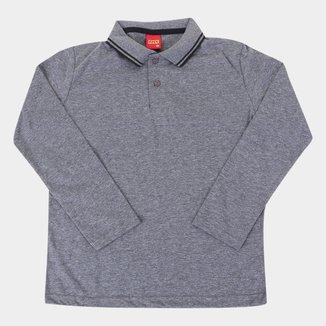 Camisa Polo Juvenil Kyly Manga Longa Masculina