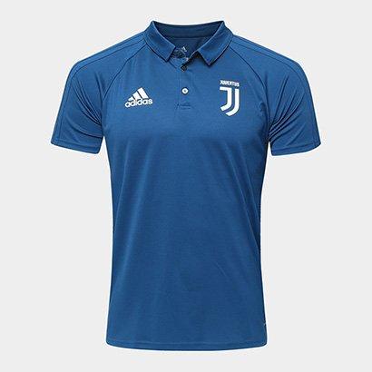A Camisa Polo Juventus Adidas 17 18 Viagem Masculina traz o DNA da equipe 367190f899266