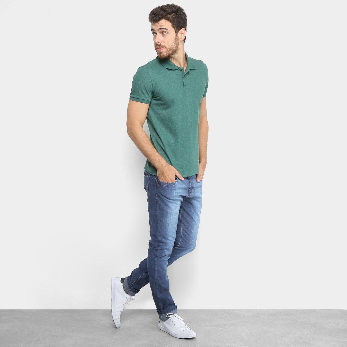 b03b5ac29e Camisa Polo Kohmar Piquet Básica Masculina - Verde - Compre Agora ...