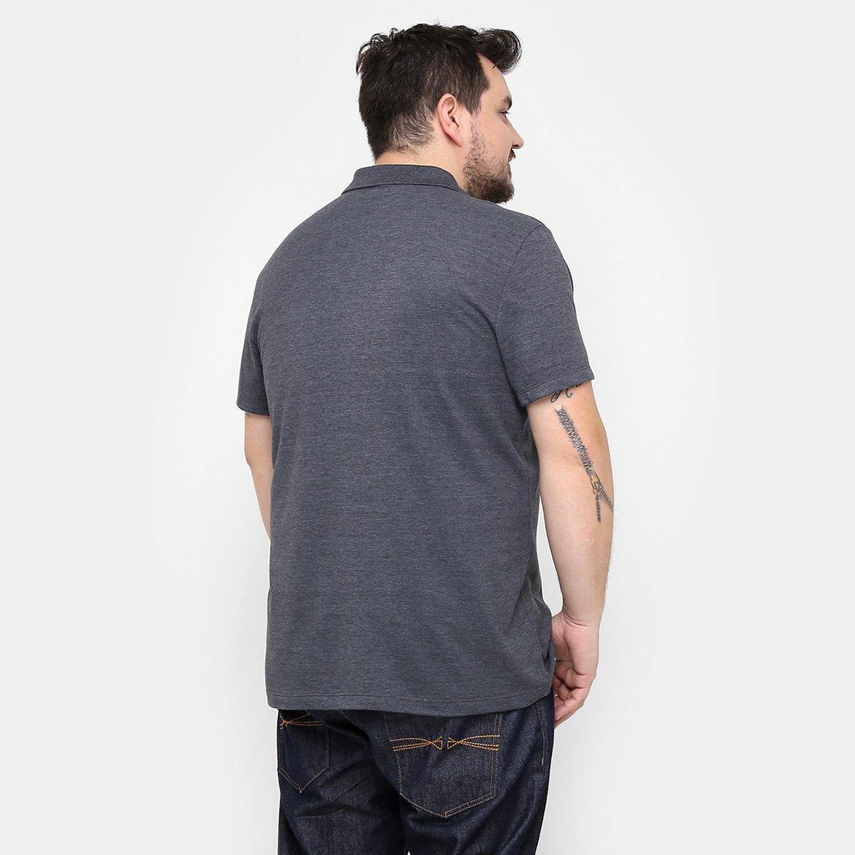 Camisa Polo Kohmar Piquet Plus Size Masculina - Cinza - Compre Agora ... 9e8357dd3271a