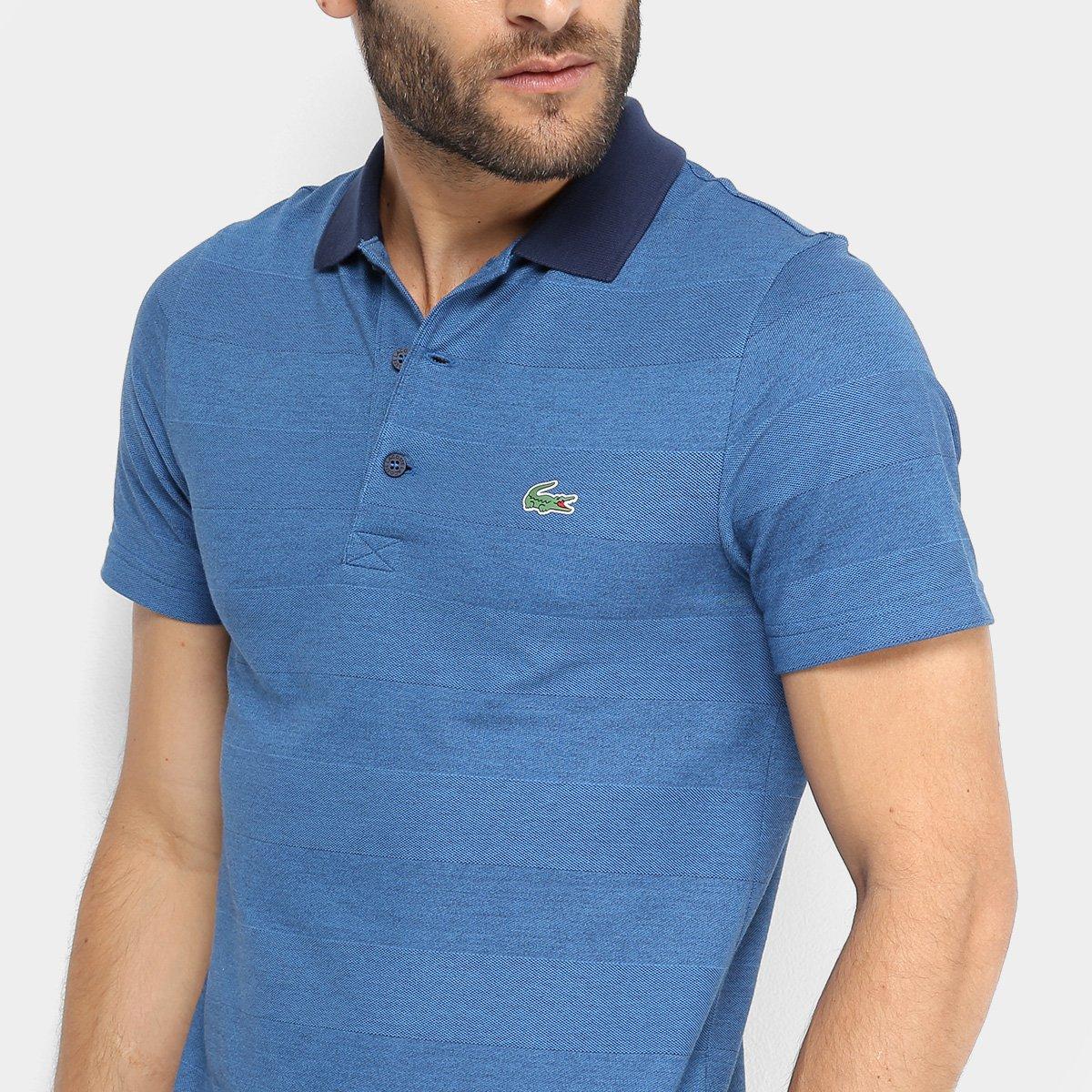 Camisa Polo Lacoste Básica Masculina - Marinho e Azul - Compre Agora ... 6f84f88e3f39c