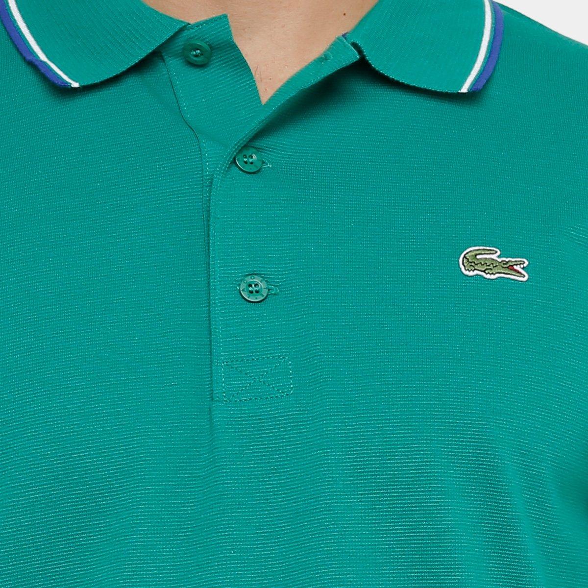 Camisa Polo Lacoste Bordada Masculina - Compre Agora  fdf6dce7e7cb9