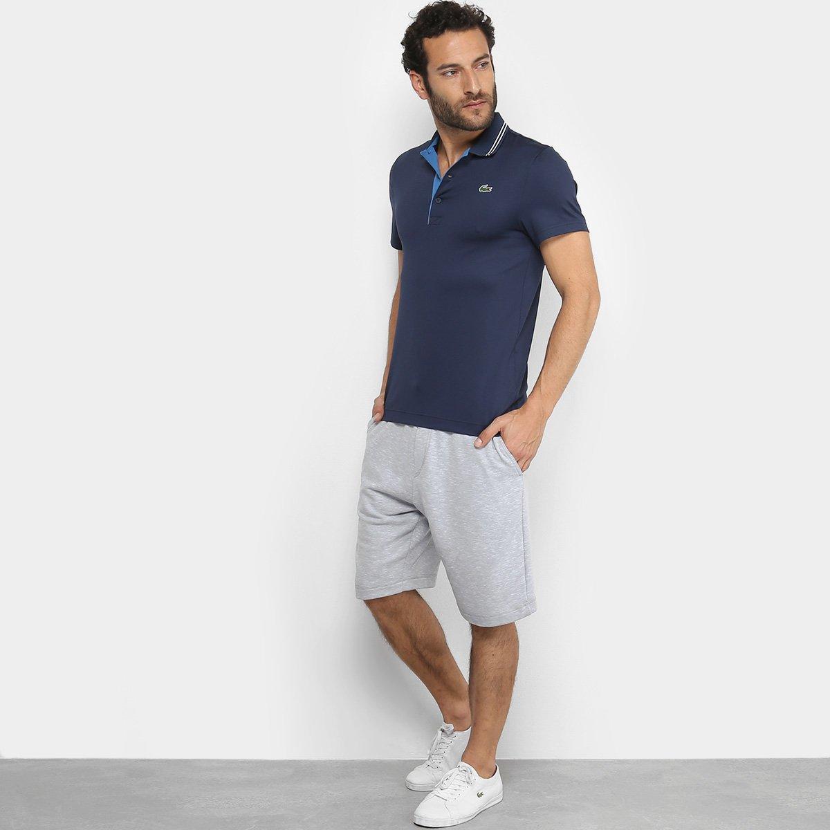 Camisa Polo Lacoste Golf Sport Strech Masculina - Marinho e Azul ... 23fc439a5a4a1