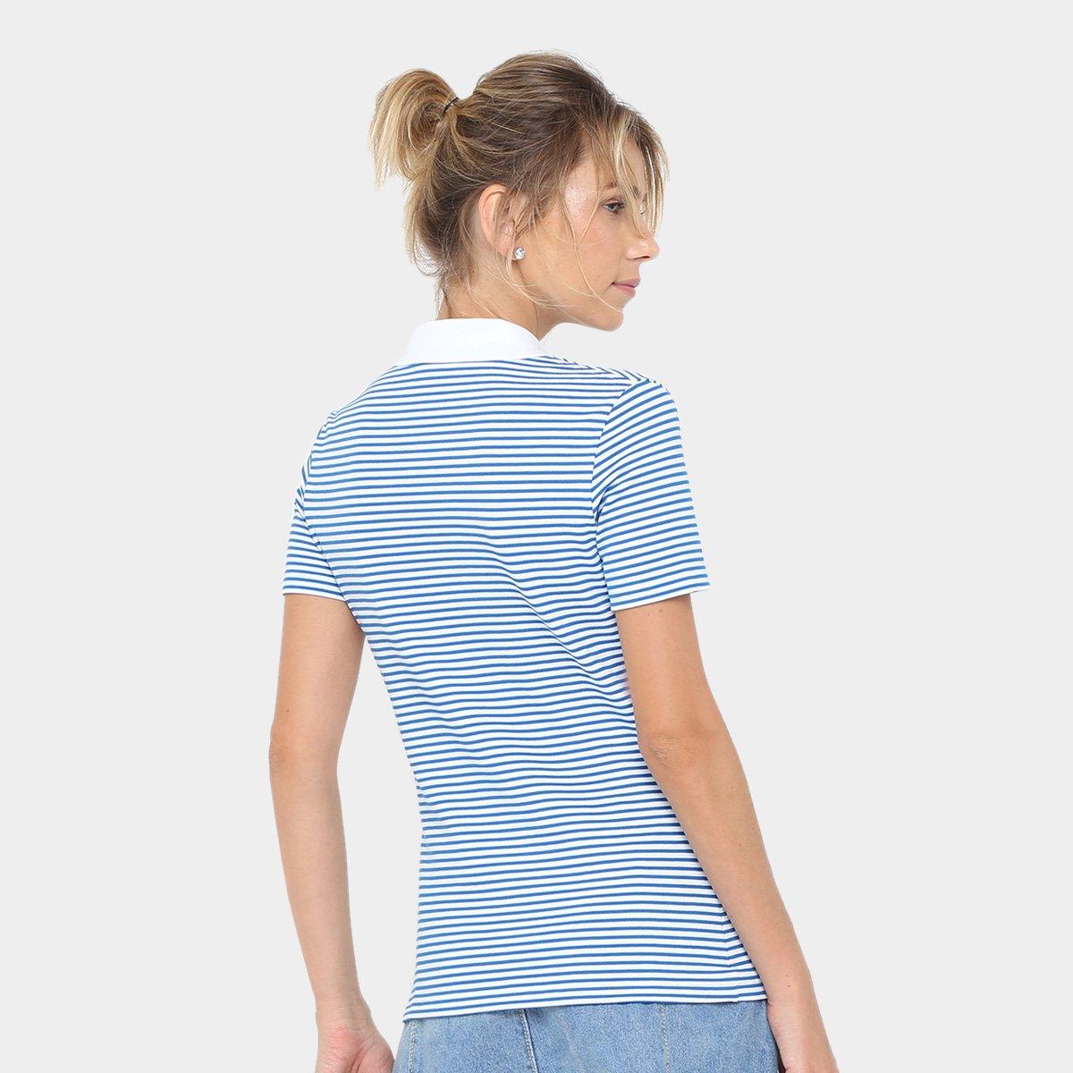 Camisa Polo Lacoste Listrada Feminina  Camisa Polo Lacoste Listrada  Feminina ... b0e44e1122cd3