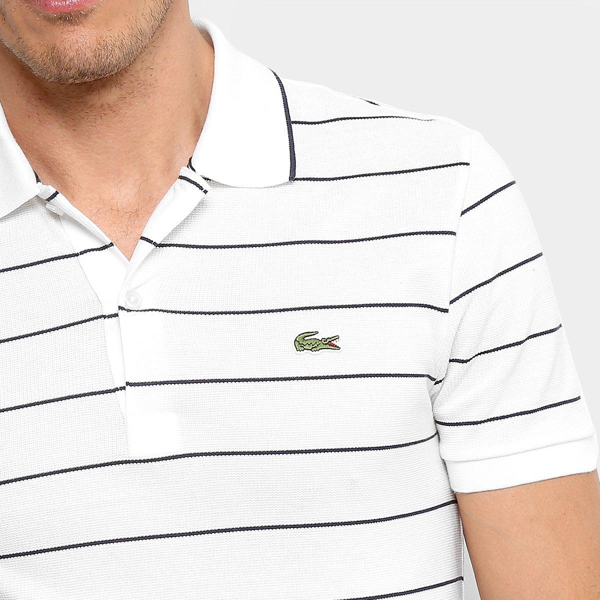 Camisa Polo Lacoste Listrada Slim Masculina Compre Agora Netshoes