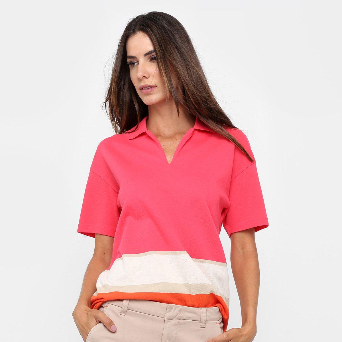Camisa Polo Lacoste Listras Feminina - Compre Agora   Netshoes 1759961c41