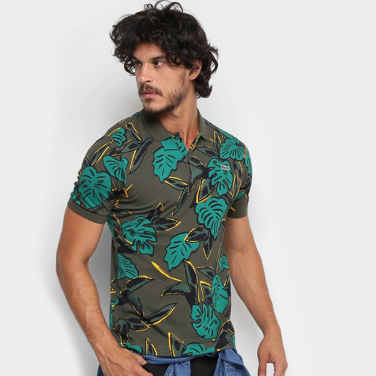 02fc5b7ce9644 Camisa Polo Lacoste Live Folhagem Masculina - Compre Agora