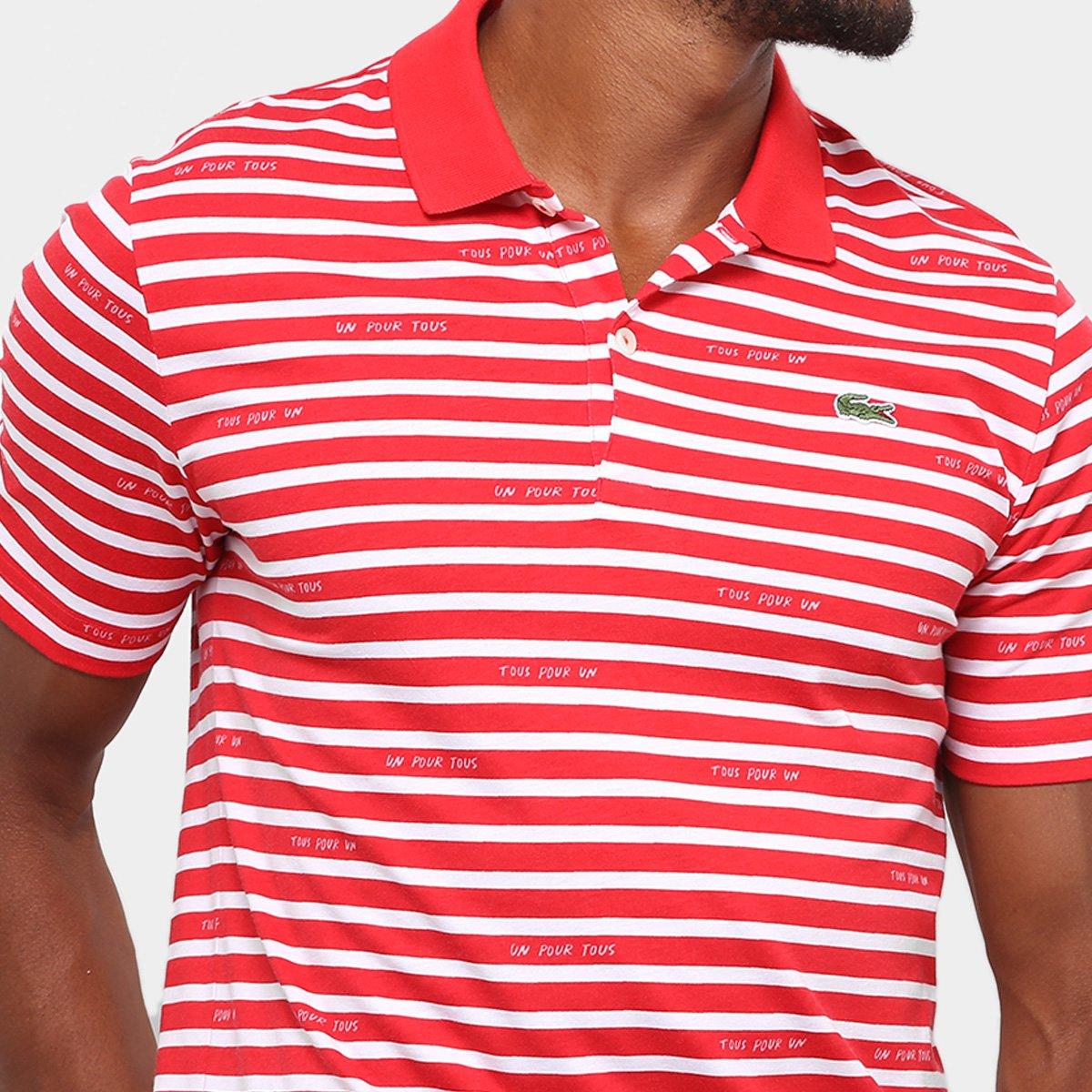 ba2a5703b8422 Camisa Polo Lacoste Live Jersey Listras Masculina - Compre Agora ...