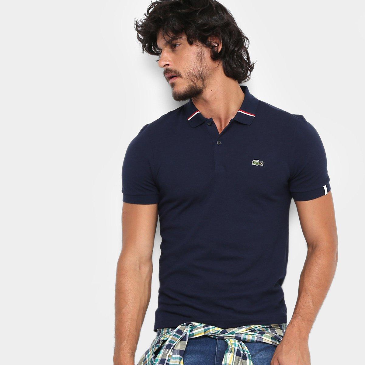 385436bc35b81 Camisa Polo Lacoste Live Piquet Frisos Gola Masculina - Compre Agora ...