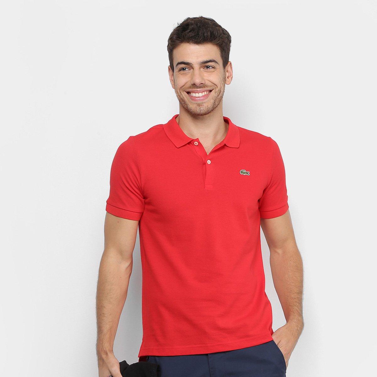 8afa8aec40 Camisa Polo Lacoste Live Piquet Masculina - Vermelho - Compre Agora ...