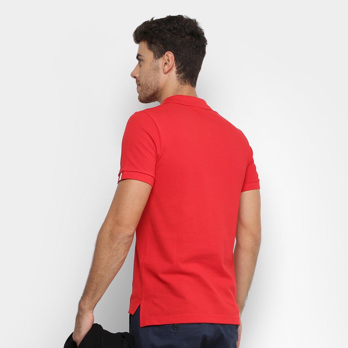 e1f5857a1e Camisa Polo Lacoste Live Piquet Masculina - Vermelho - Compre Agora ...