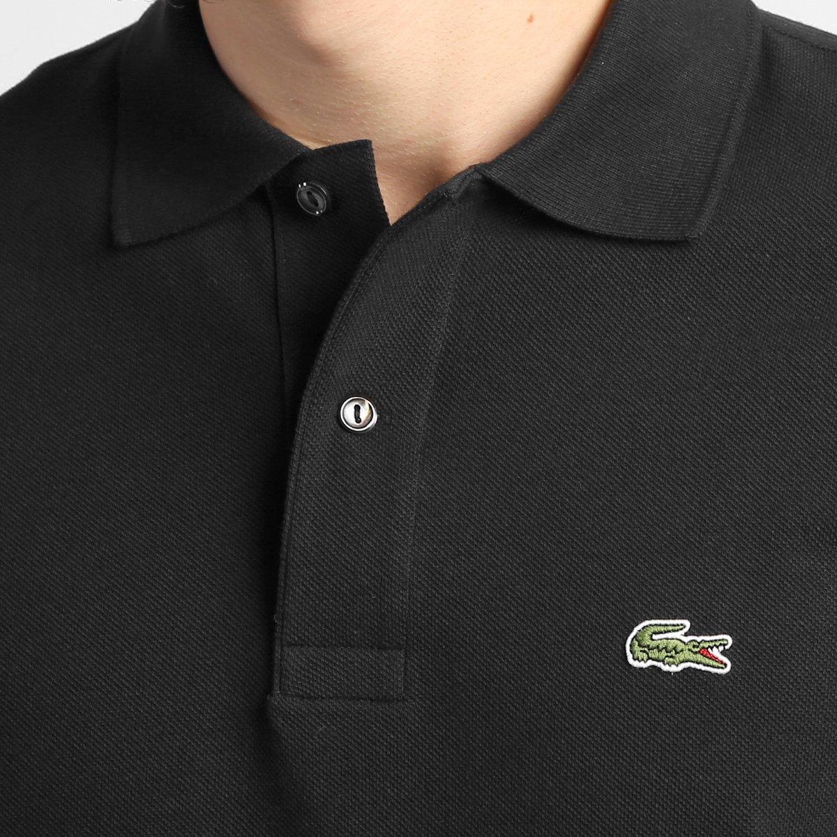 Camisa Polo Lacoste Original Fit Masculina - Preto - Compre Agora ... 5d6061b553