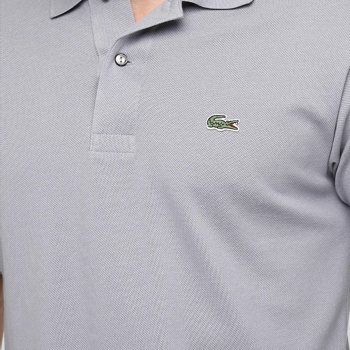 Camisa Polo Lacoste Original Fit Masculina - Cinza - Compre Agora ... 4d4ed3e264