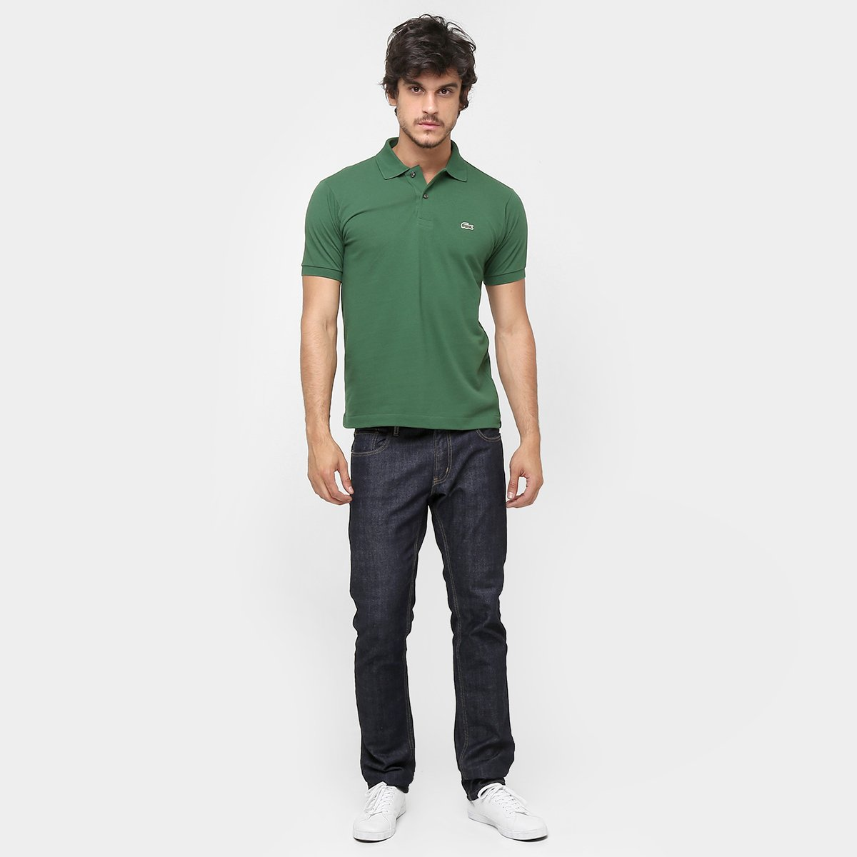 f934e1487c Camisa Polo Lacoste Original Fit Masculina - Verde Militar - Compre ...