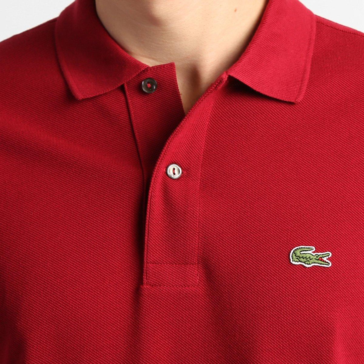 Camisa Polo Lacoste Original Fit Masculina - Bordô - Compre Agora ... 506b3b258e0e9
