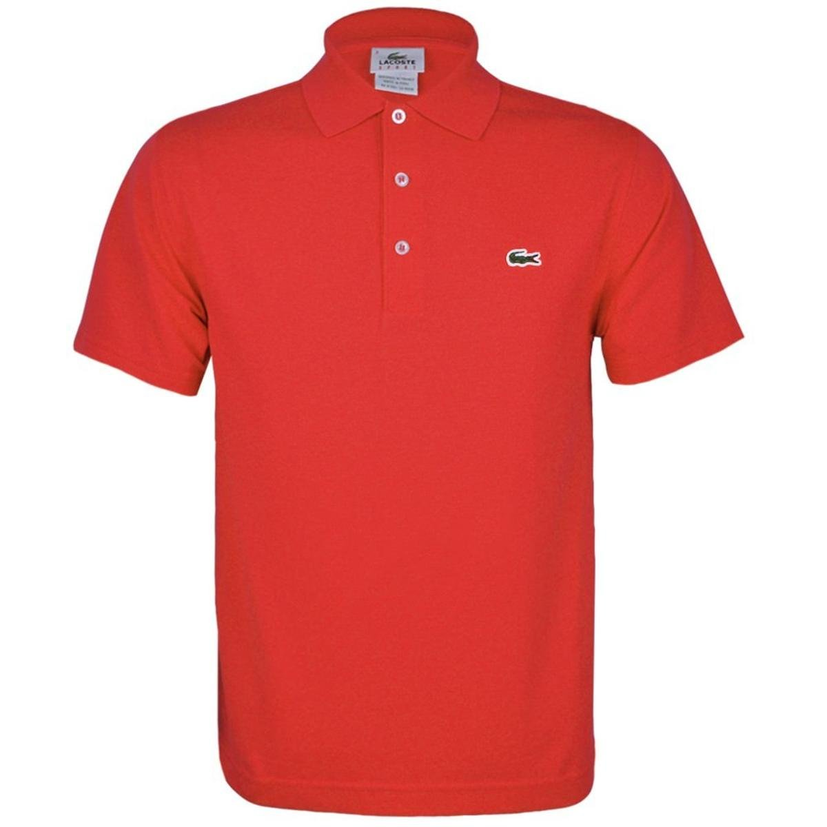 Masculino Vermelho Lacoste Camisa Polo Original Fit BodxerQCW