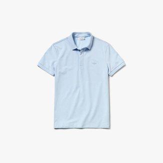 Camisa Polo Lacoste Paris Regular Fit Masculina em piquet de Algodão Stretch