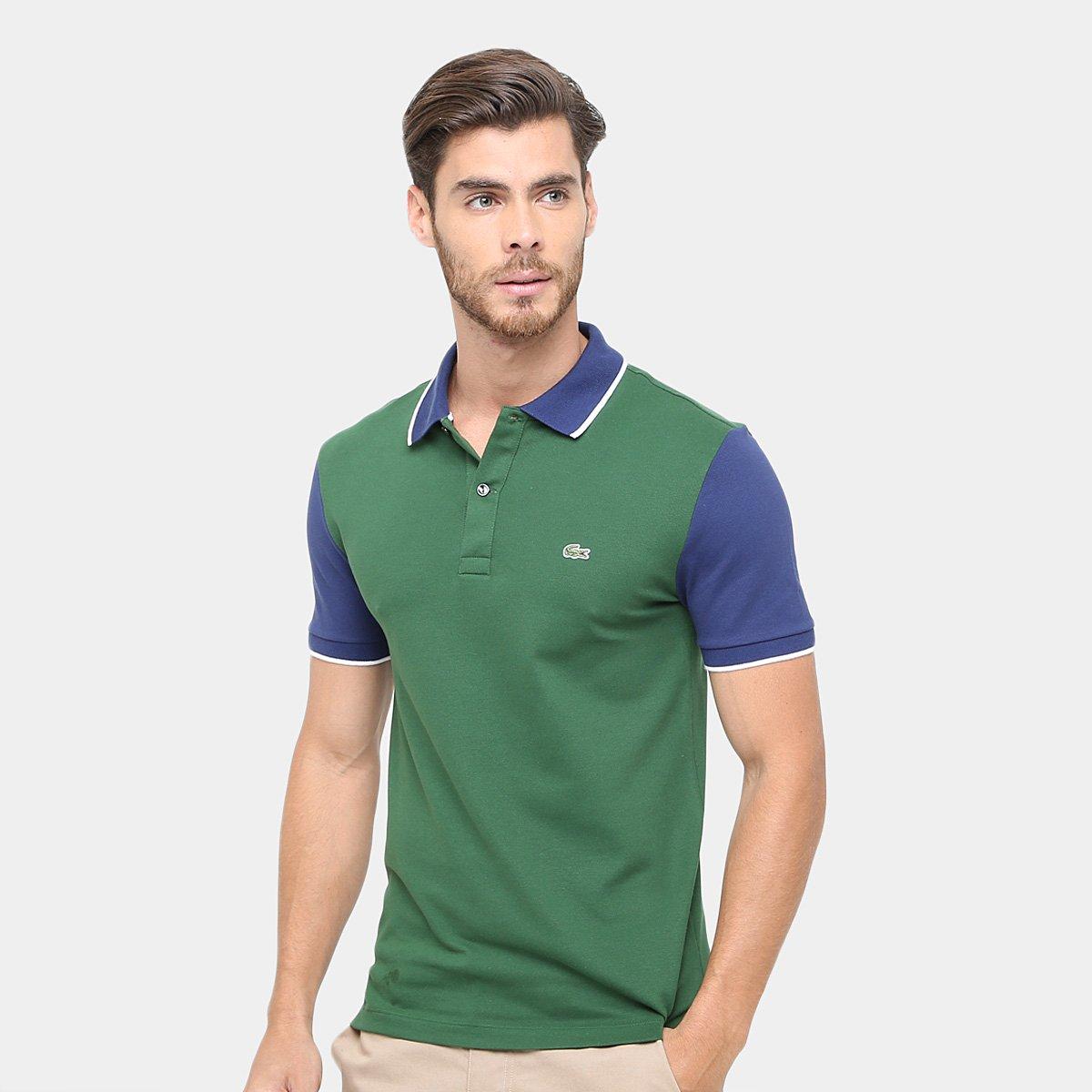6230df08bbc5c Camisa Polo Lacoste Piquet Bicolor Slim Fit Masculina - Compre Agora ...