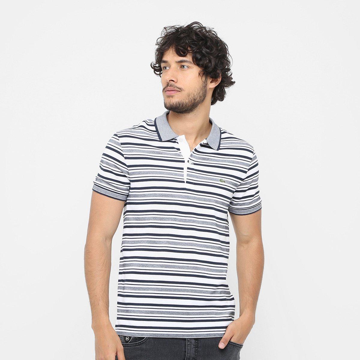 39975ca7d82 Camisa Polo Lacoste Piquet Caviar Listras Masculina - Compre Agora ...