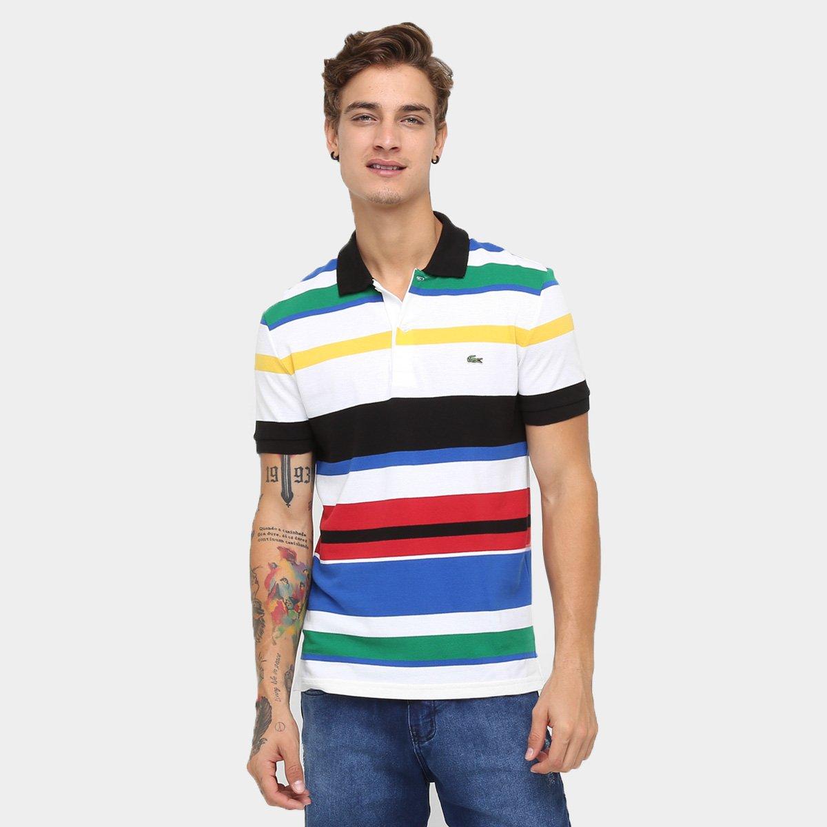 7b3ff8655a6 Camisa Polo Lacoste Piquet Listrada Slim Fit - Compre Agora
