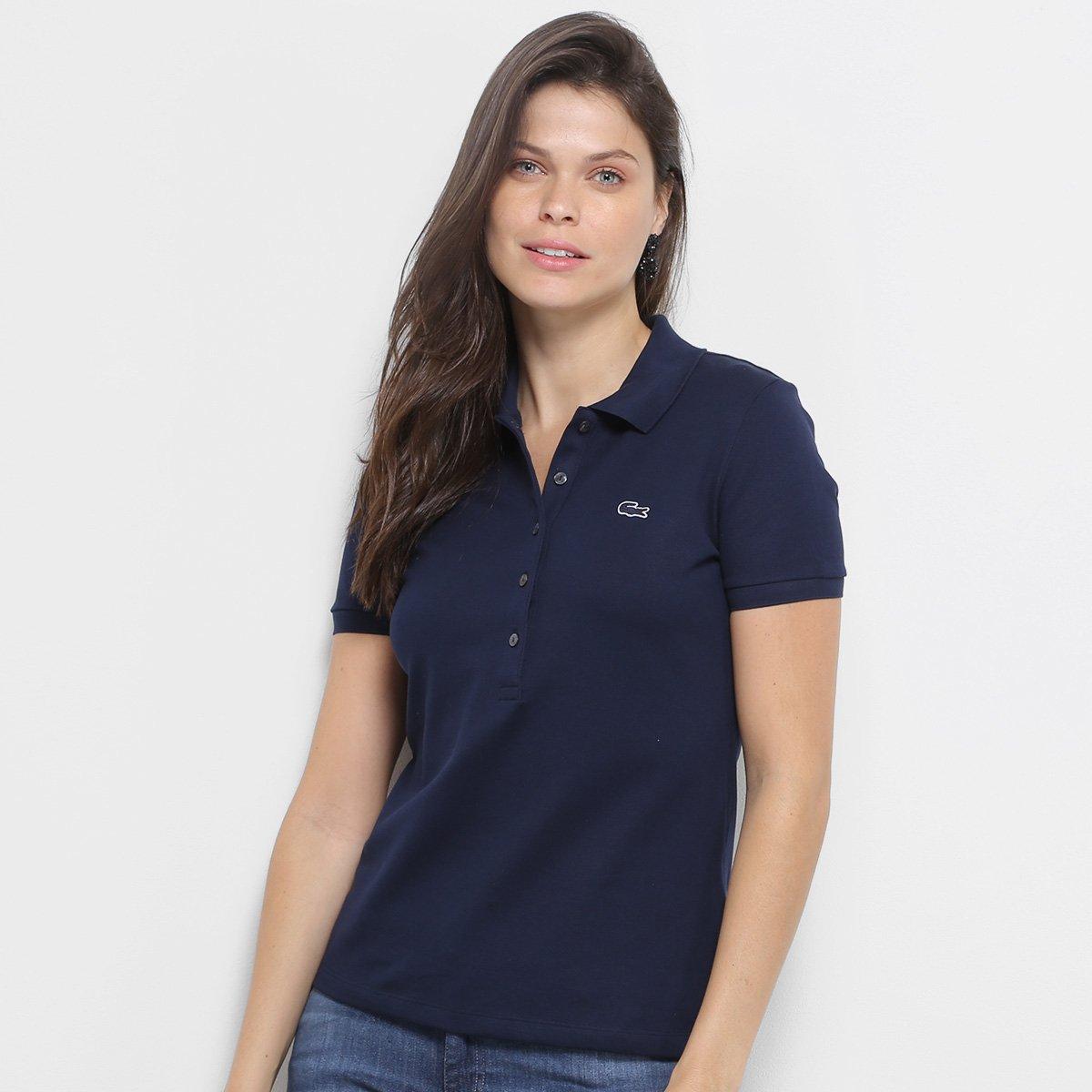 Camisa Polo Lacoste Piquet Manga Curta Feminina - Compre Agora ... 381806e532ca8
