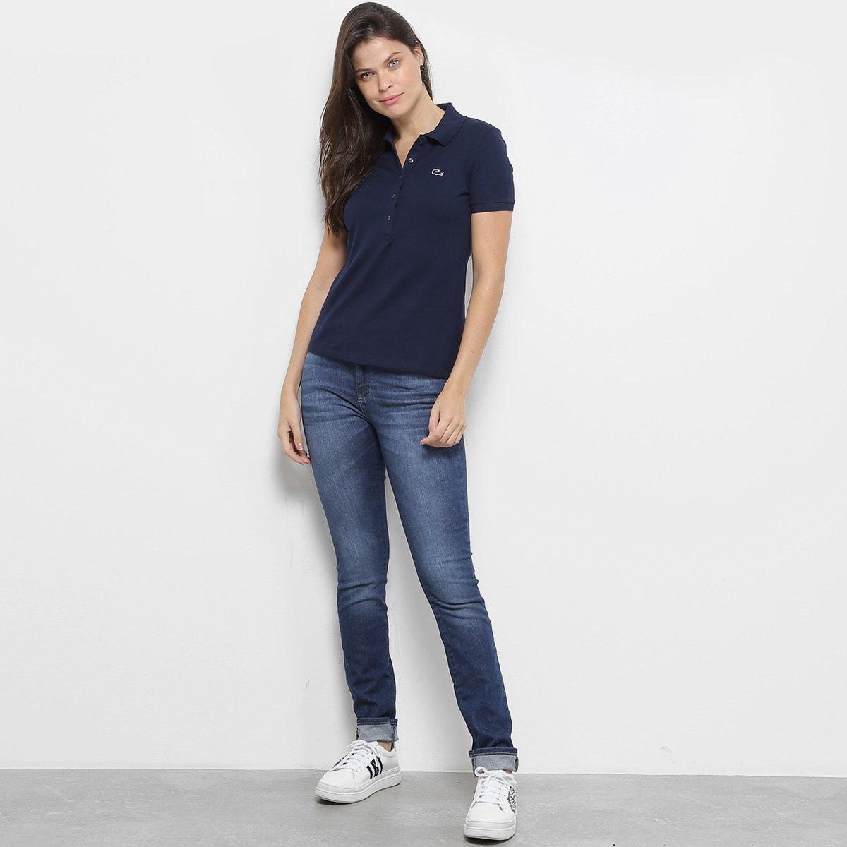 Camisa Polo Lacoste Piquet Manga Curta Feminina - Compre Agora ... f237b438b6796