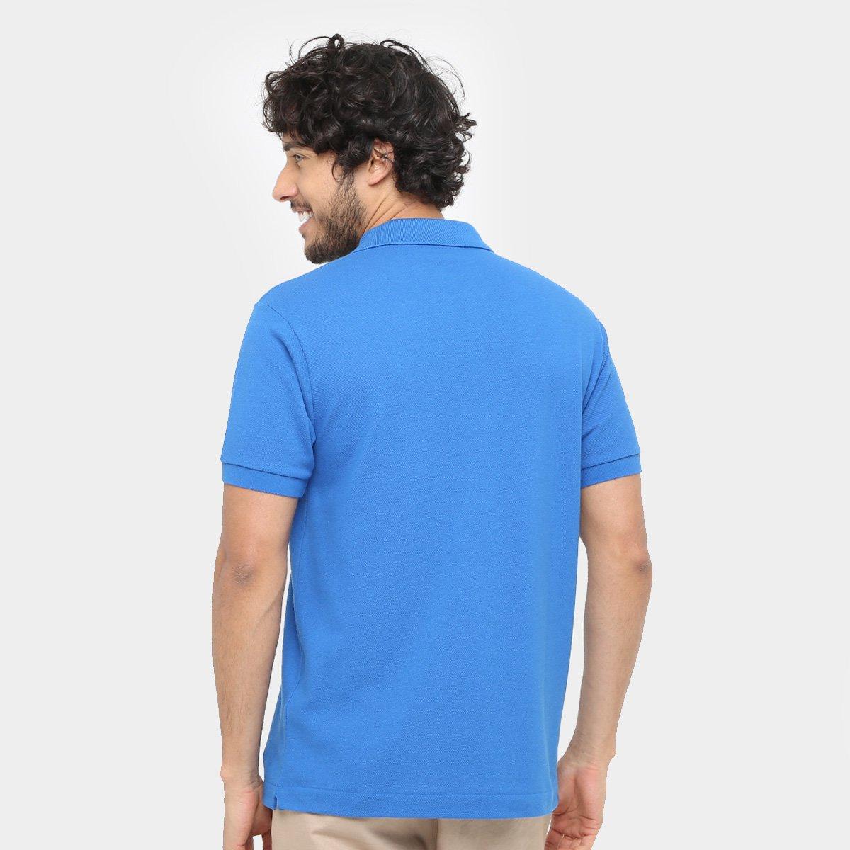 d8a1fc73f7 Camisa Polo Lacoste Piquet Original Fit Masculina - Azul Royal ...