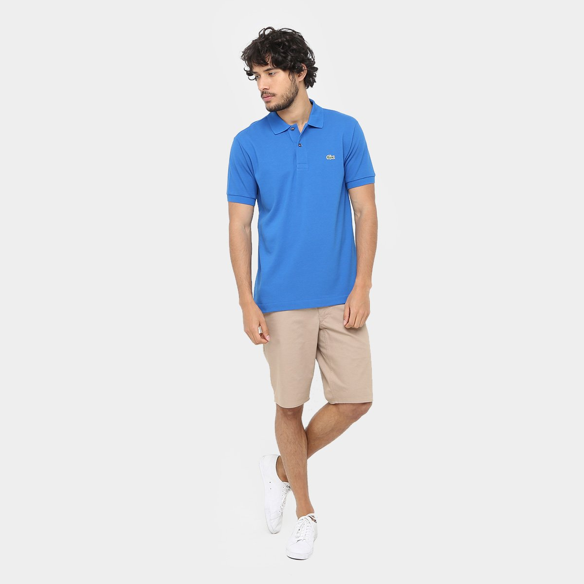 Camisa Polo Lacoste Piquet Original Fit Masculina - Azul Royal ... ac1bbc2dd5