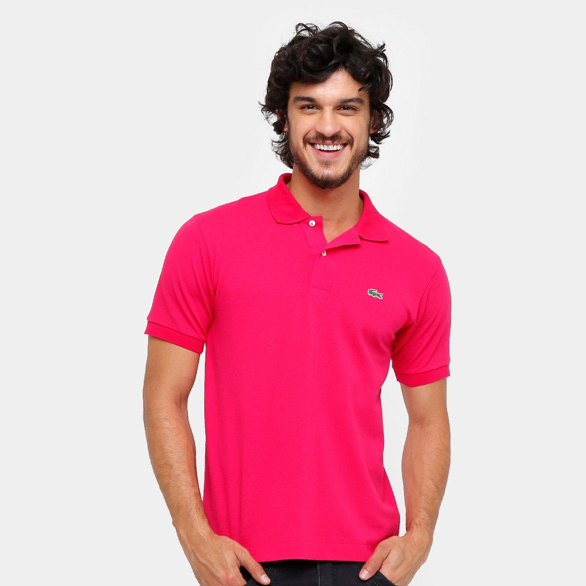 abec08e715 Camisa Polo Lacoste Piquet Original Fit Masculina - Pink - Compre Agora