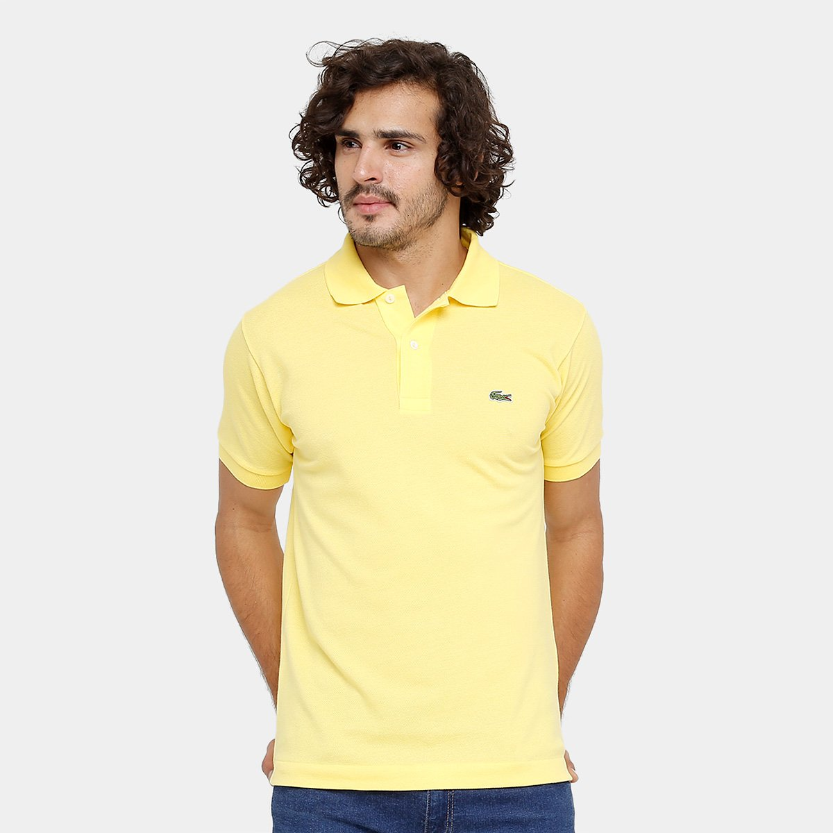 Camisa Polo Lacoste Piquet Original Fit Masculina - Amarelo Claro - Compre  Agora  eb8a2915b23de