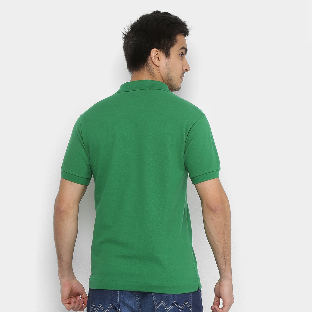 ... Camisa Polo Lacoste Piquet Original Fit Masculina - Verde - Compre . 4e38d4161f