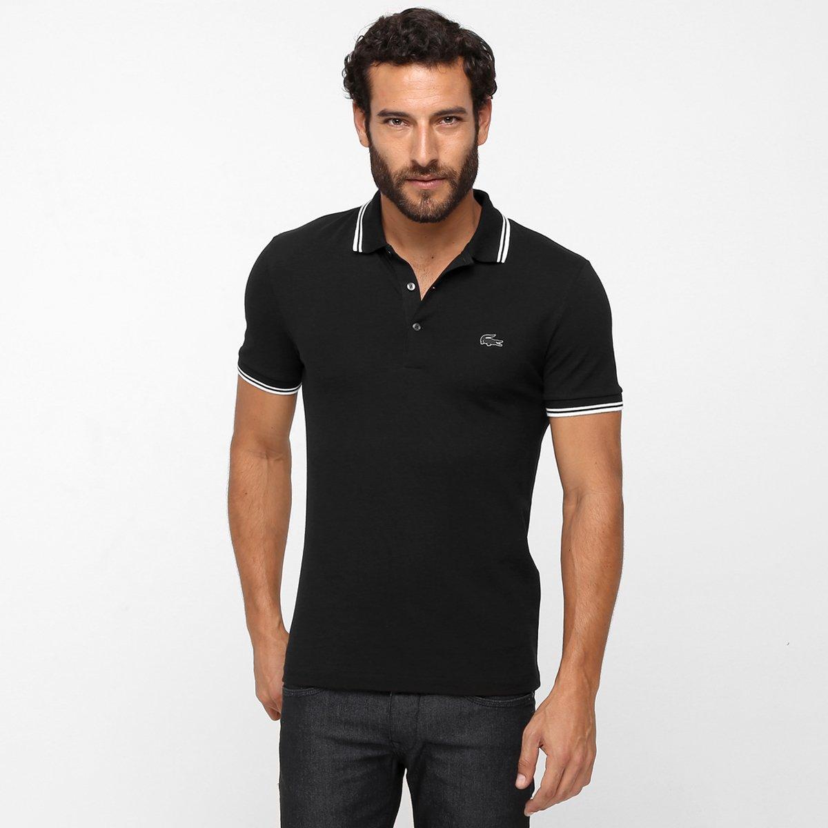 e3a8ad1769b25 Camisa Polo Lacoste Piquet Pima Slim Fit - Compre Agora