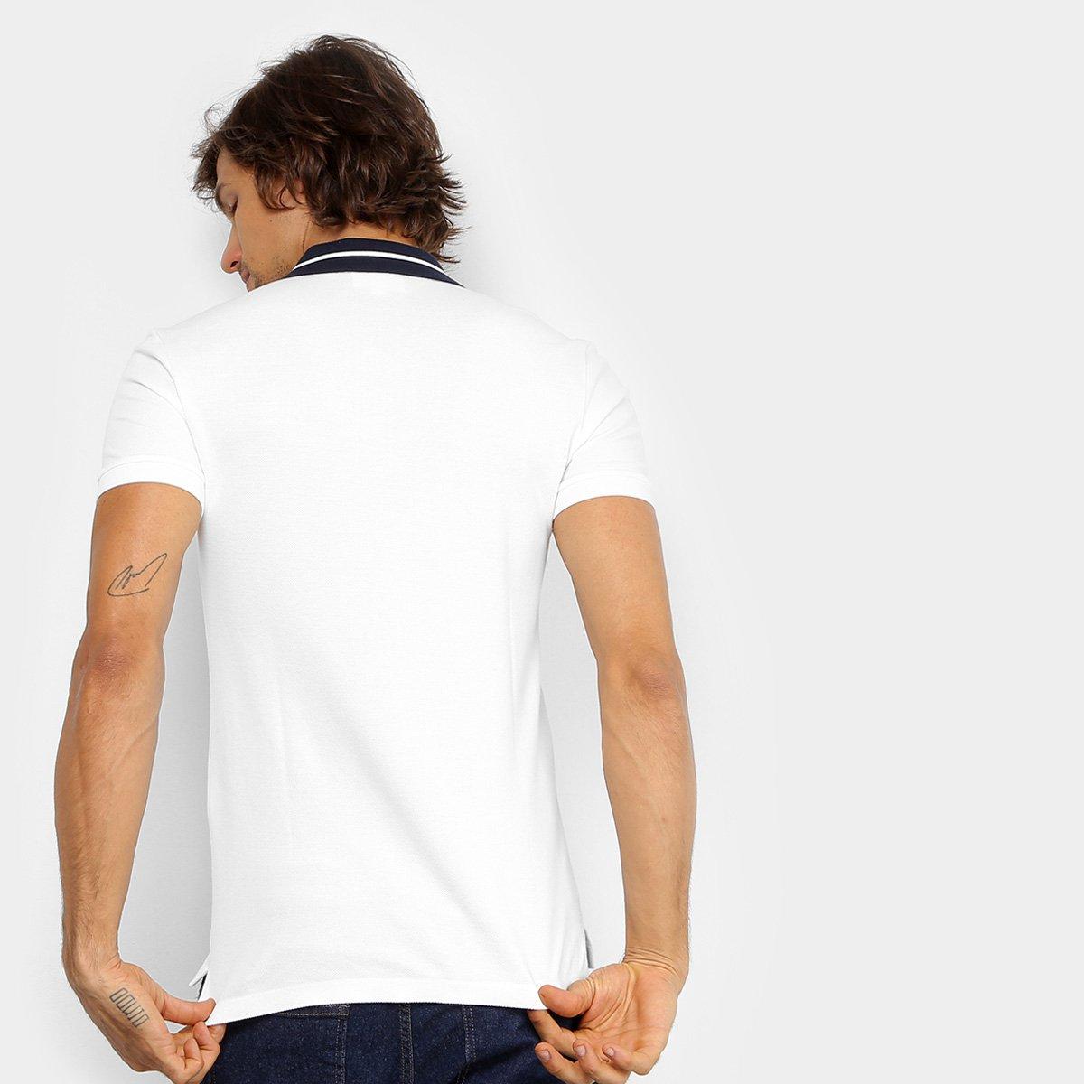 00823c685ebdd ... Camisa Polo Lacoste Piquet Slim Fit Fancy Contraste Masculina ...