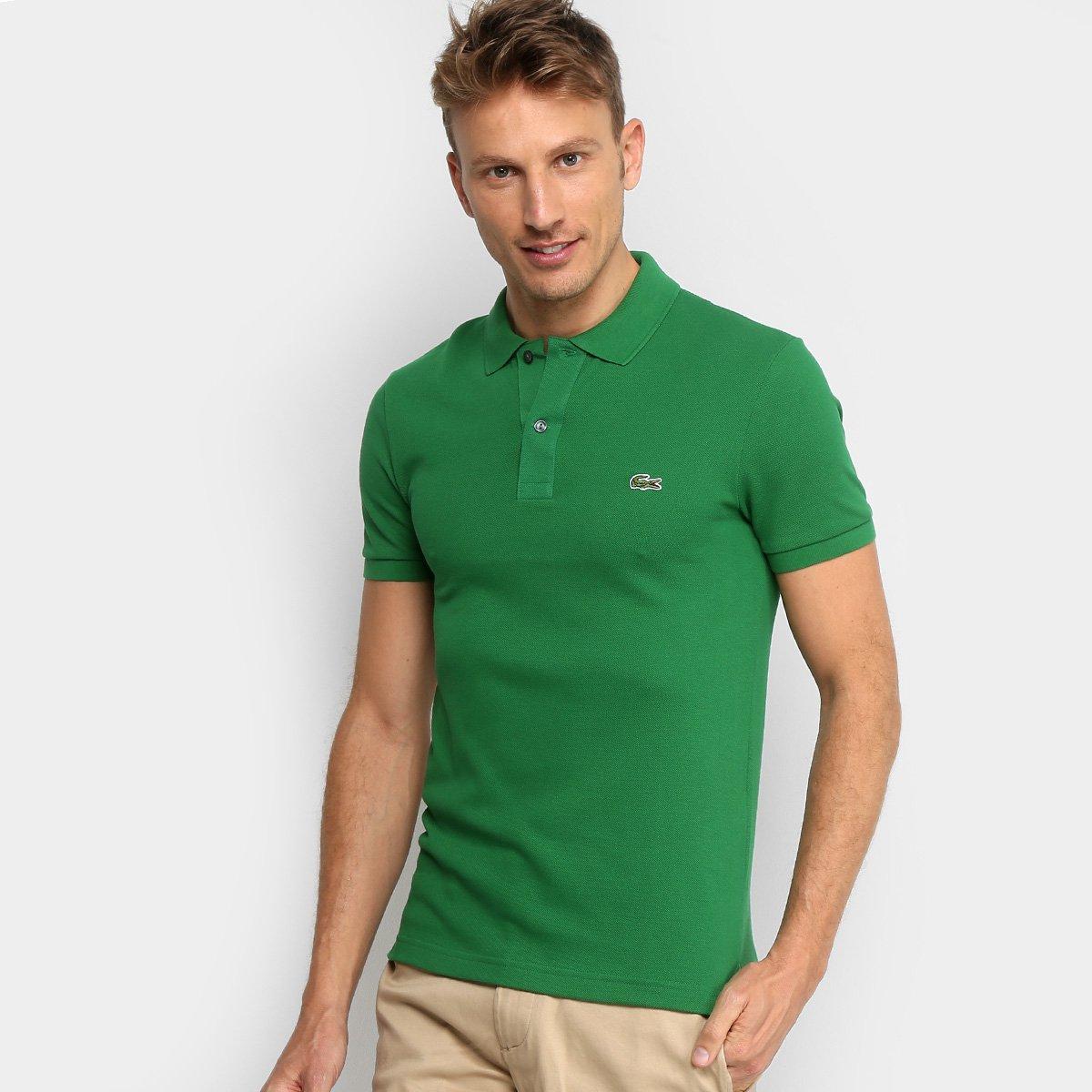 0da6d14f72d04 Camisa Polo Lacoste Piquet Slim Fit Masculina - Compre Agora