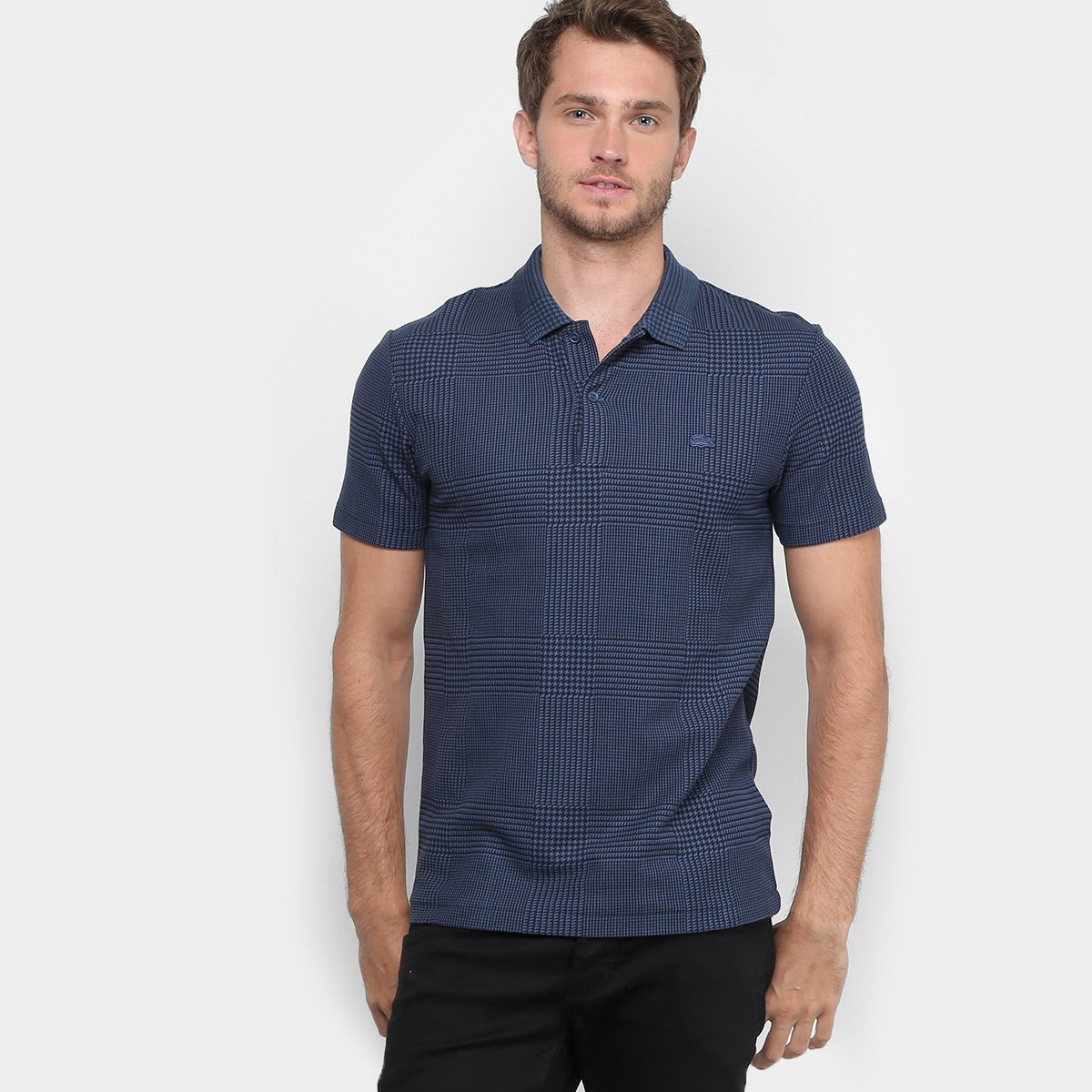 9540aa23aa75e Camisa Polo Lacoste Piquet Slim Fit Xadrez Masculina - Compre Agora ...