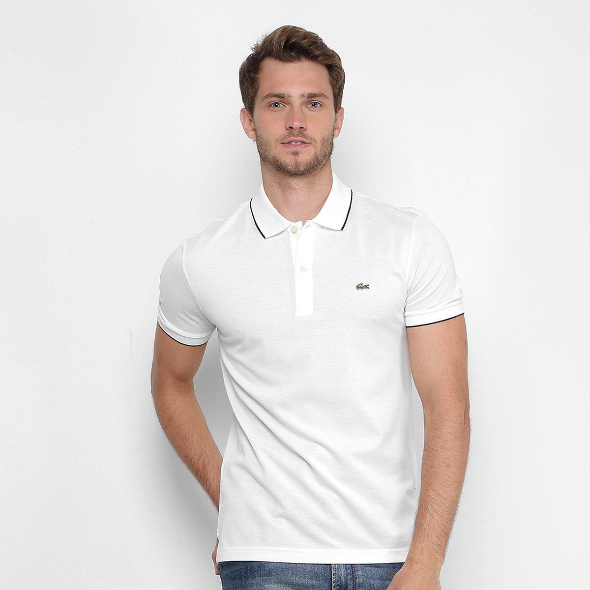 934491b7eb1c3 Camisa Polo Lacoste Piquet Slim Masculina - Compre Agora