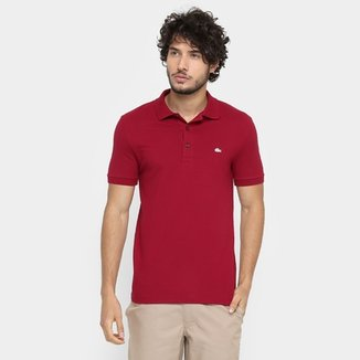Camisa Polo Lacoste Piquet Slim Masculina