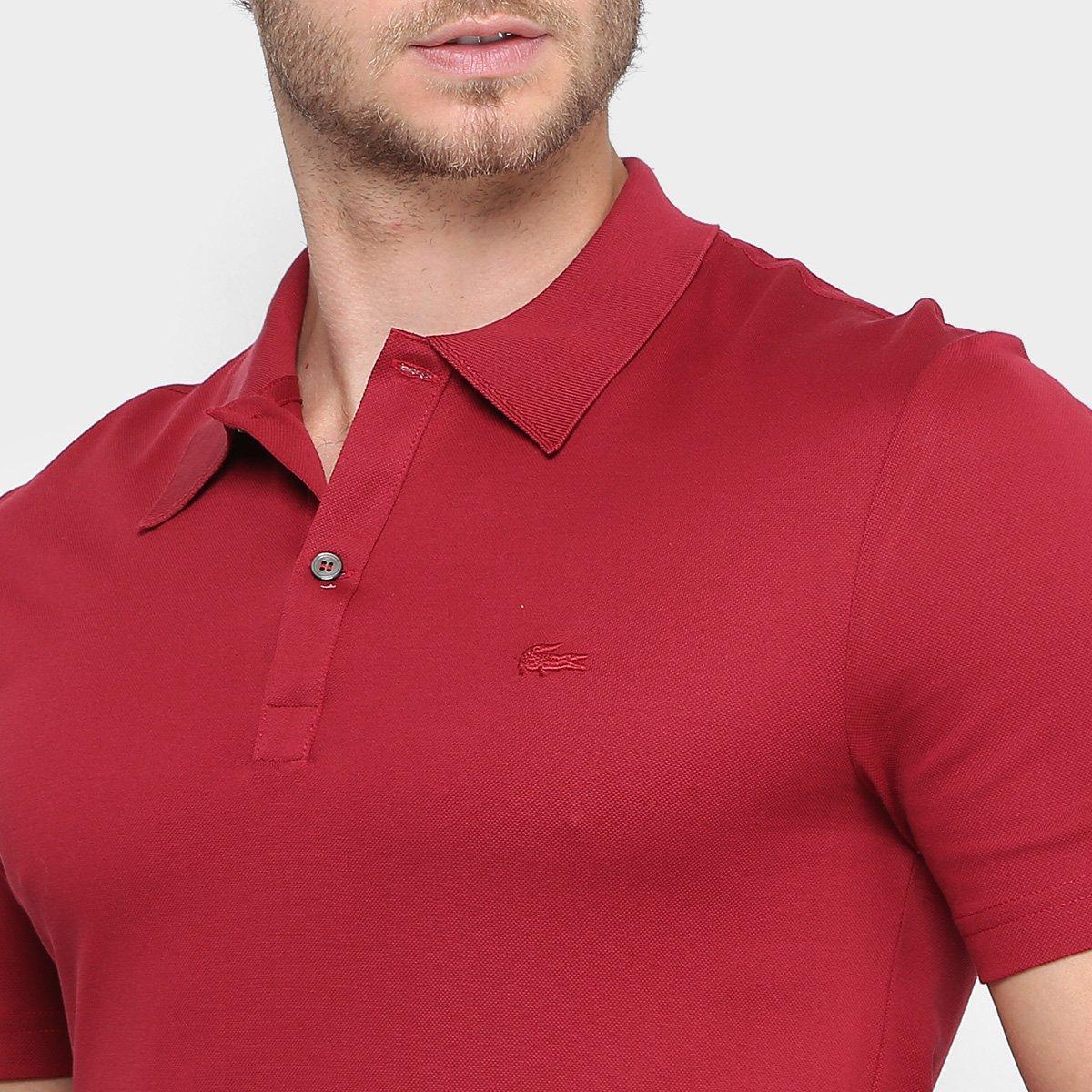 77493774e8056 Camisa Polo Lacoste Slim Fit em Piquet Mercerise Masculina - Compre ...