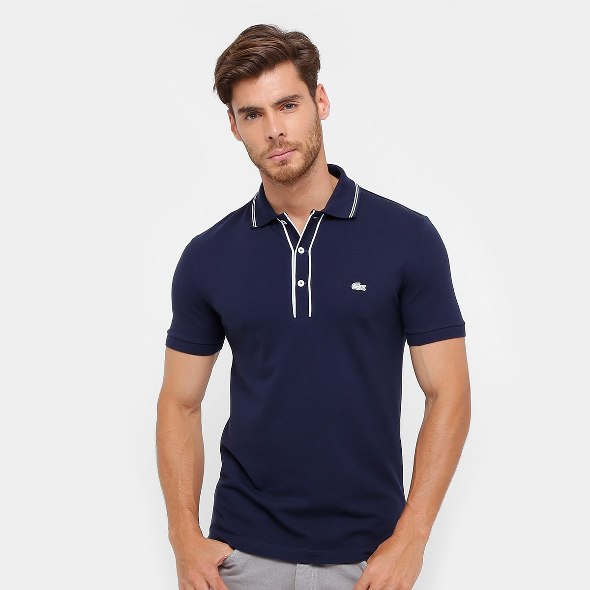 Camisa Polo Lacoste Slim Fit Masculina - Compre Agora   Netshoes a5362d5500
