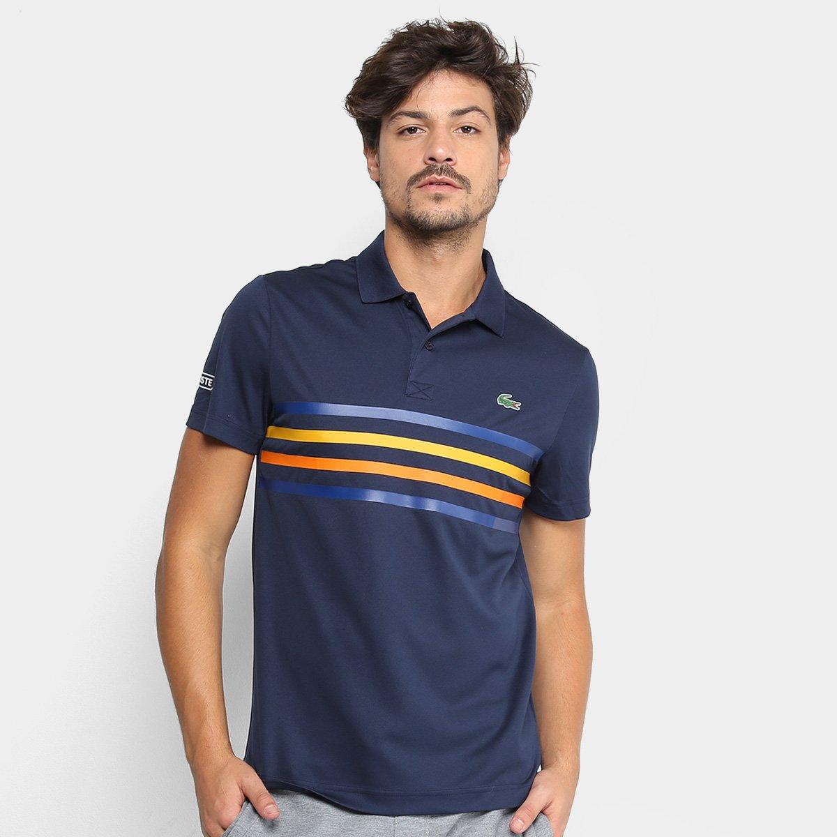 Camisa Polo Lacoste Sport Tennis Masculina - Marinho - Compre Agora ... e1f9bc38243