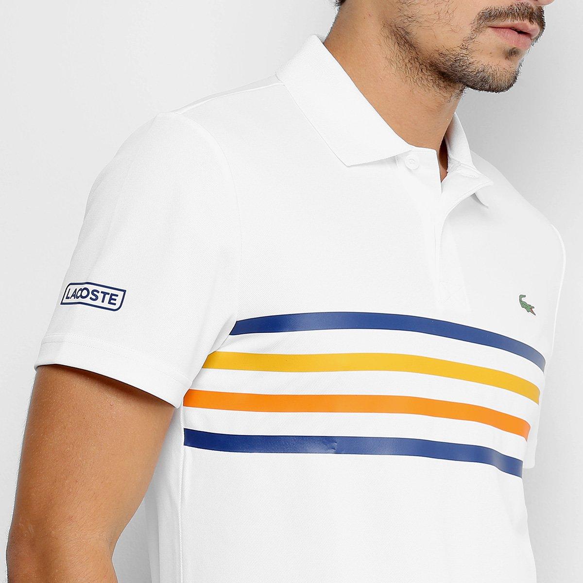 Camisa Polo Lacoste Sport Tennis Masculina - Branco - Compre Agora ... 7cb6d4c337