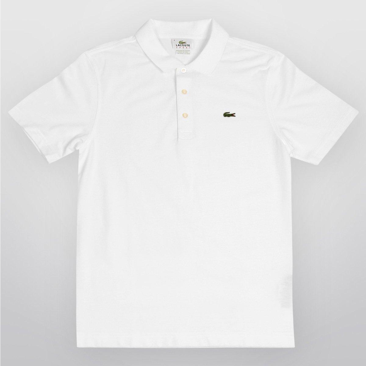 bbcd6c9d80960 Camisa Polo Lacoste Super Light Masculina - Branco - Compre Agora ...