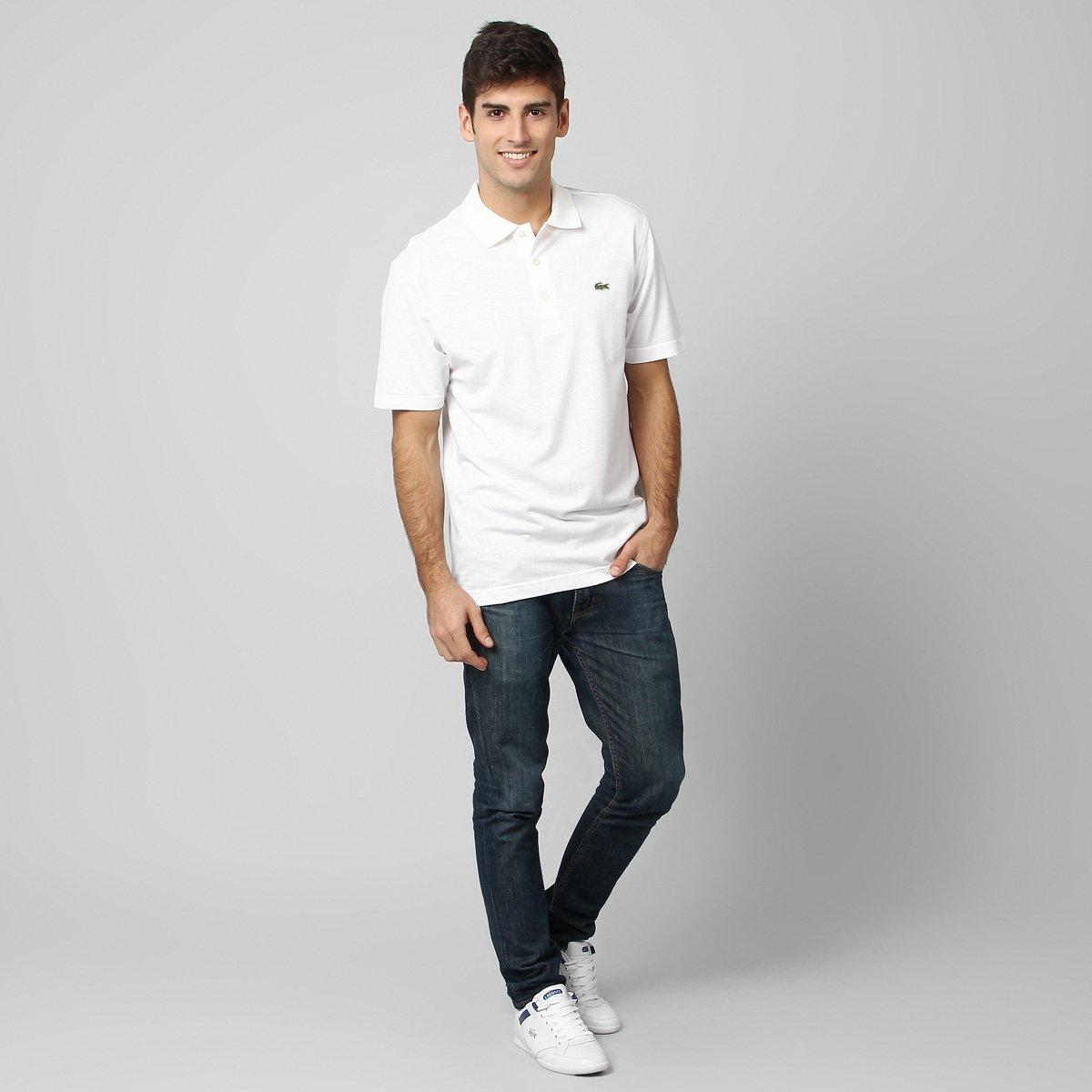Camisa Polo Lacoste Super Light Masculina - Branco - Compre Agora ... ac6f85e1ce