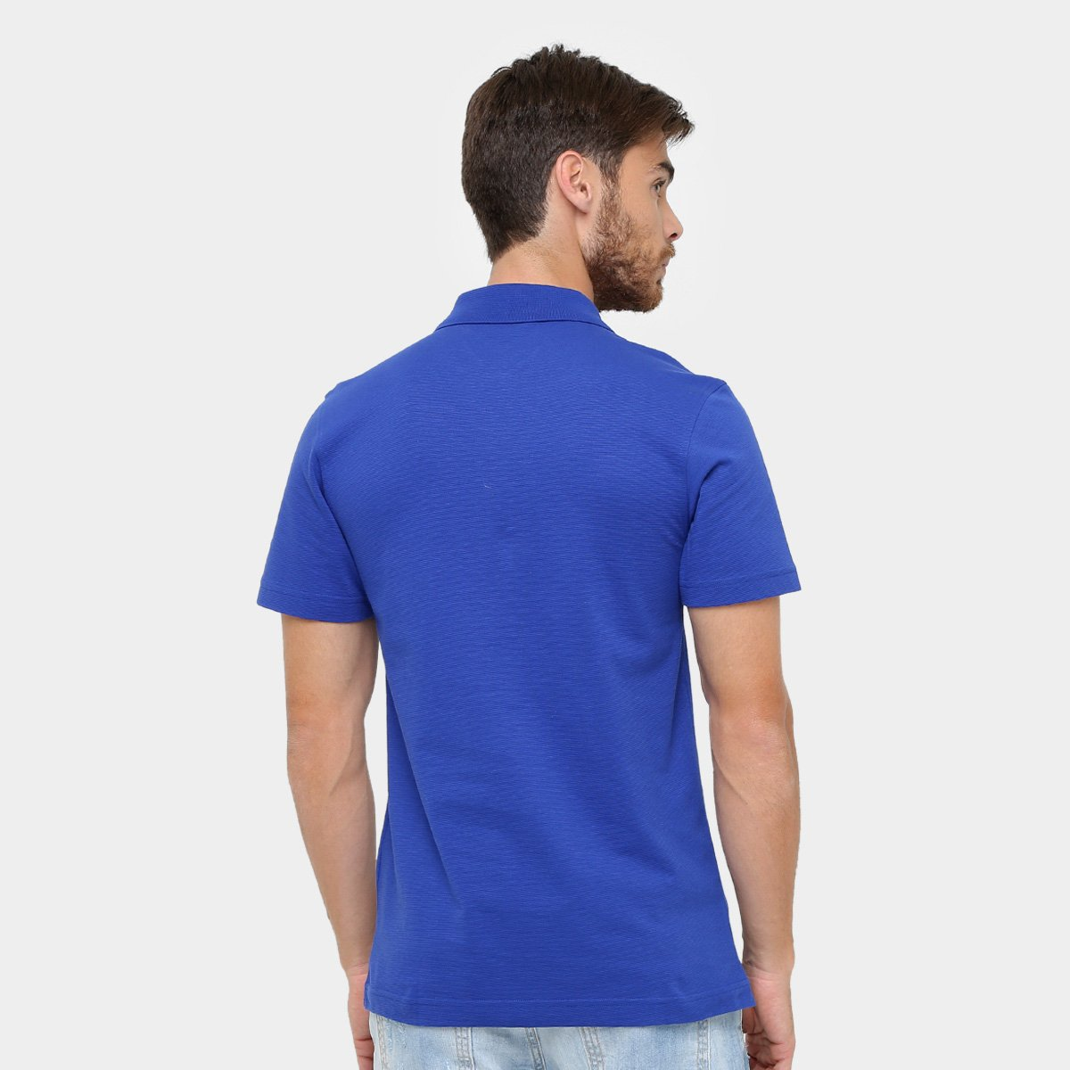 Camisa Polo Lacoste Super Light Masculina - Azul e Branco - Compre ... ceec2ae776