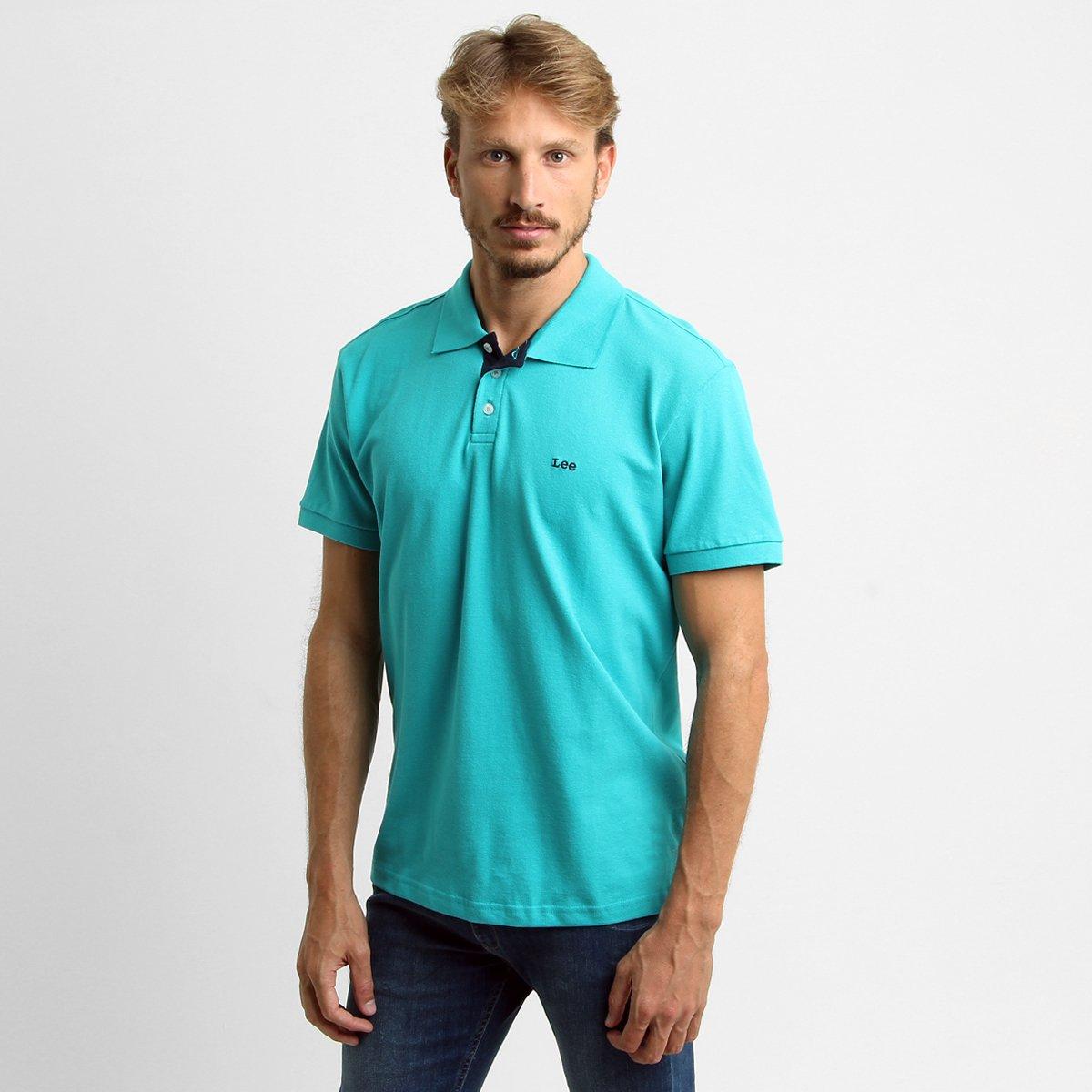 8859e05fbe Camisa Polo Lee Básica Piquet - Verde água