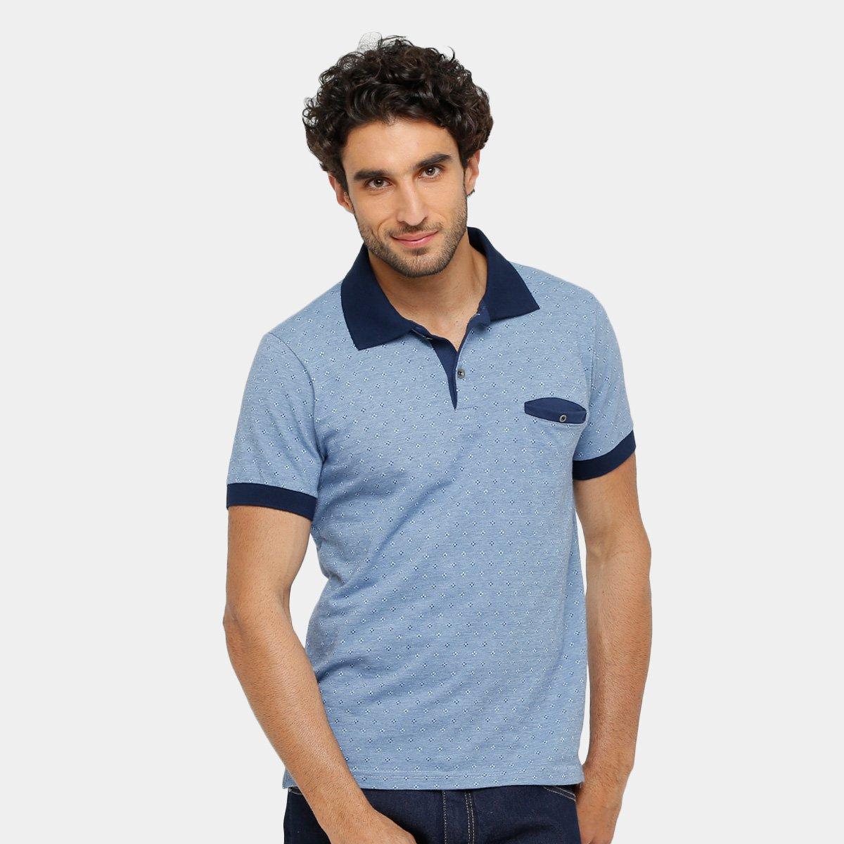 3411504c2e Camisa Polo Local Jaquard Bolso Embutido Masculina