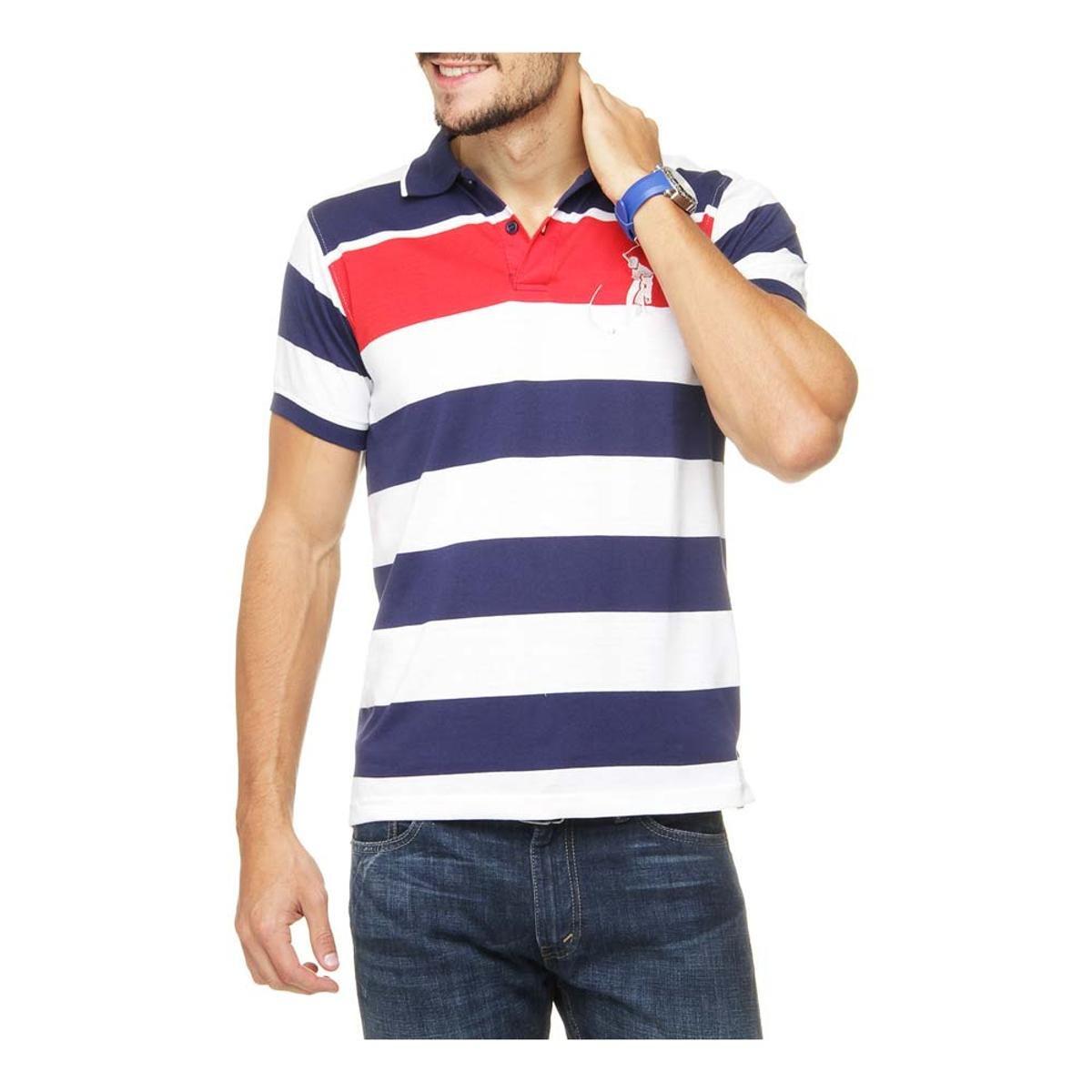 Camisa Polo Long Beach Polo Club Mc Listrada Cvl Gd Bordado - Compre Agora   c9d1428b64b
